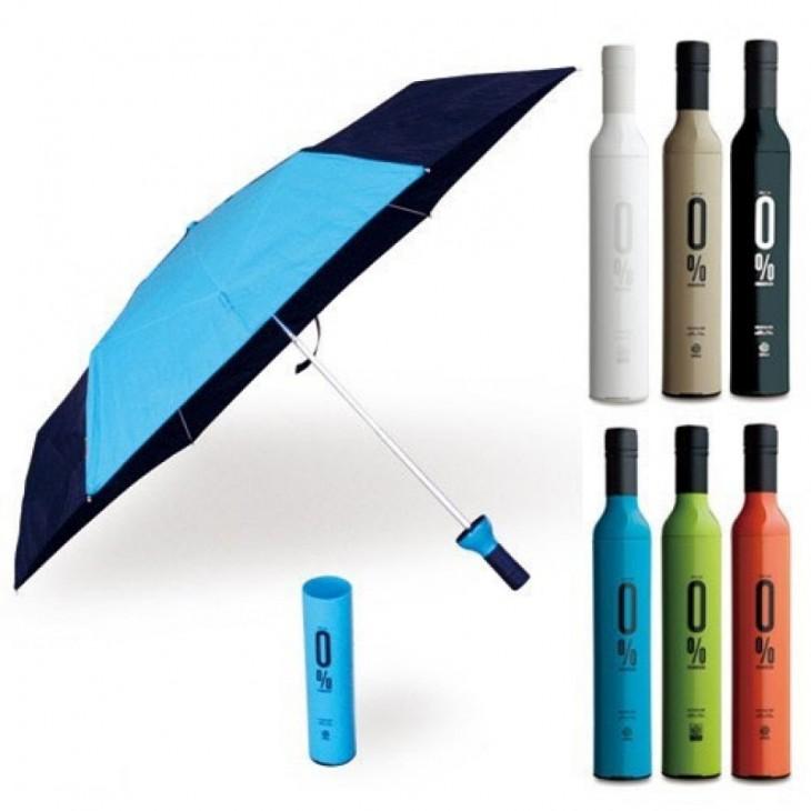 Paraguas con diseño de botellas de vino