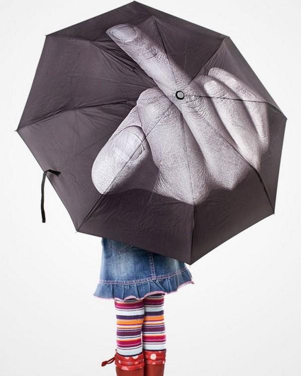 Paraguas con diseño pintar de dedo