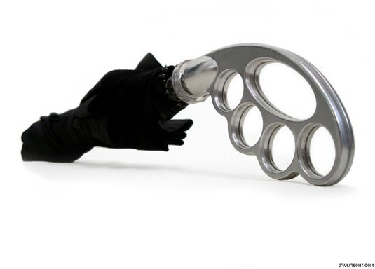 Paraguas con diseño para nudillos