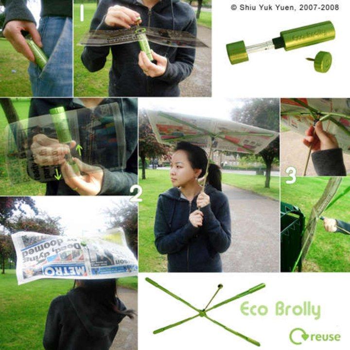 Paraguas con diseño ecológico