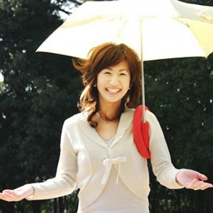 Paraguas con diseño para cargar en el hombro