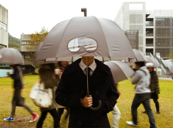 Paraguas con diseño de gafas