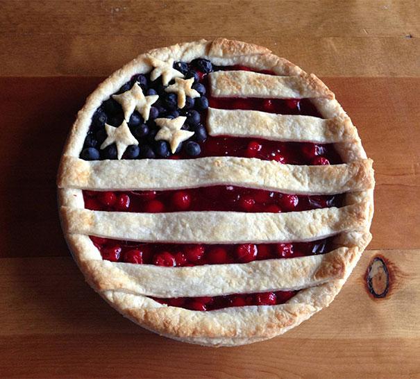 Pay con el diseño de la bandera de Estados Unidos