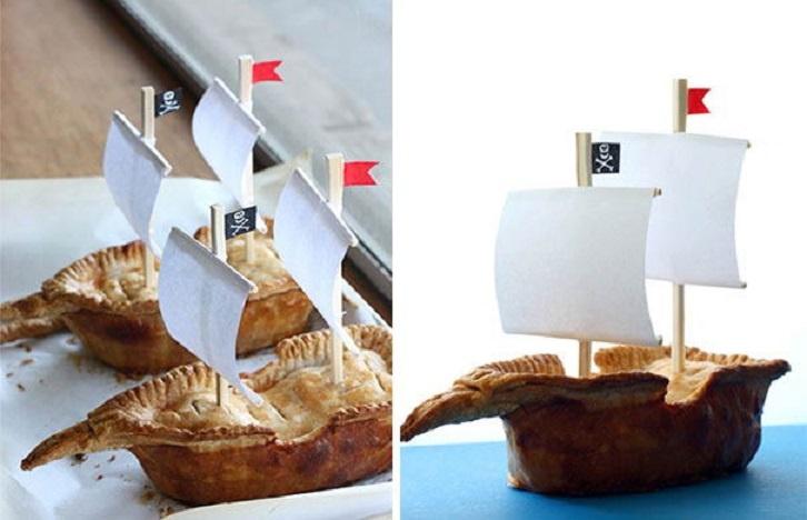 Pay con diseños de barcos piratas