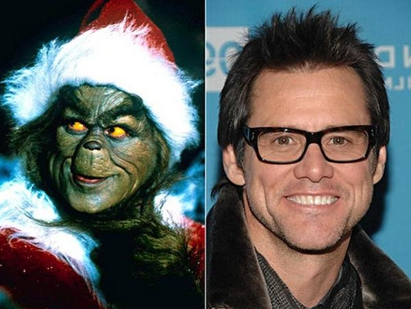 Jim carrey interpretó al Grinch