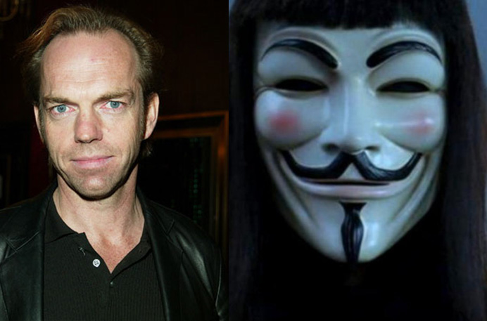 Hugo Weaving es v de vendetta