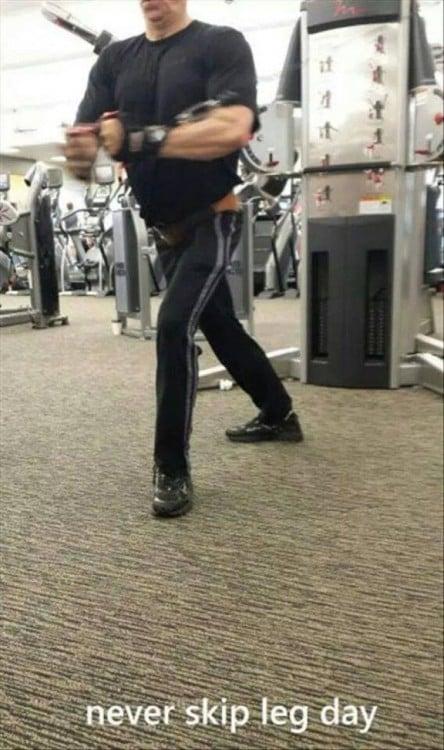 en Hombres que hacer gimnasio pierna olvidaron el 20