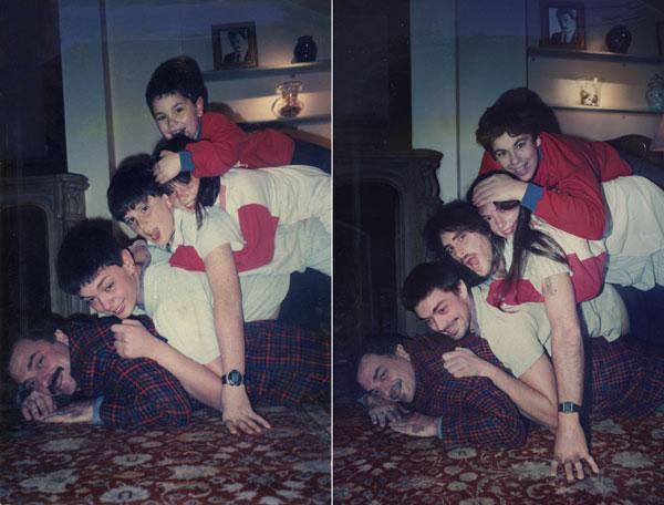 familia zurbano decide recrear una de las tardes divertidas de su familia
