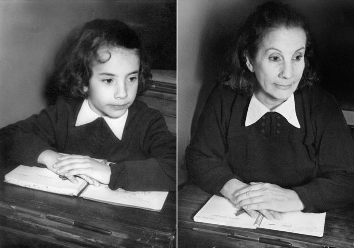 mujer recrea su niñez a traves de la fotografia