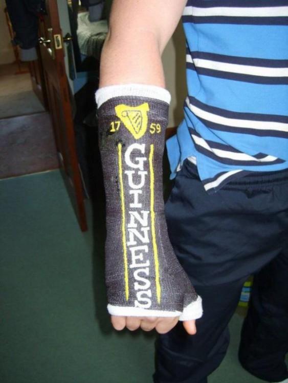 Yeso con la palabra Guinness