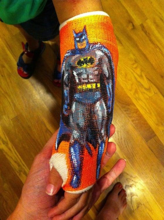 Yeso con diseño de batman