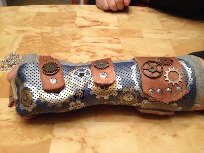 Yesos con diseño steampunk