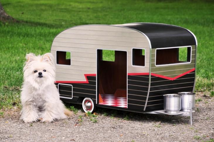casa movil para perro chiquito en forma de