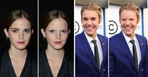 celebridades con y sin cejas