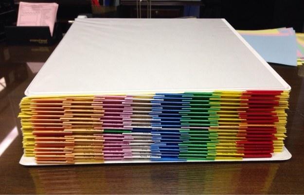 papeleo de oficina perfectamente acomodada