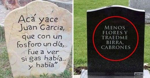 epitafios y frases graciosas en tumbas