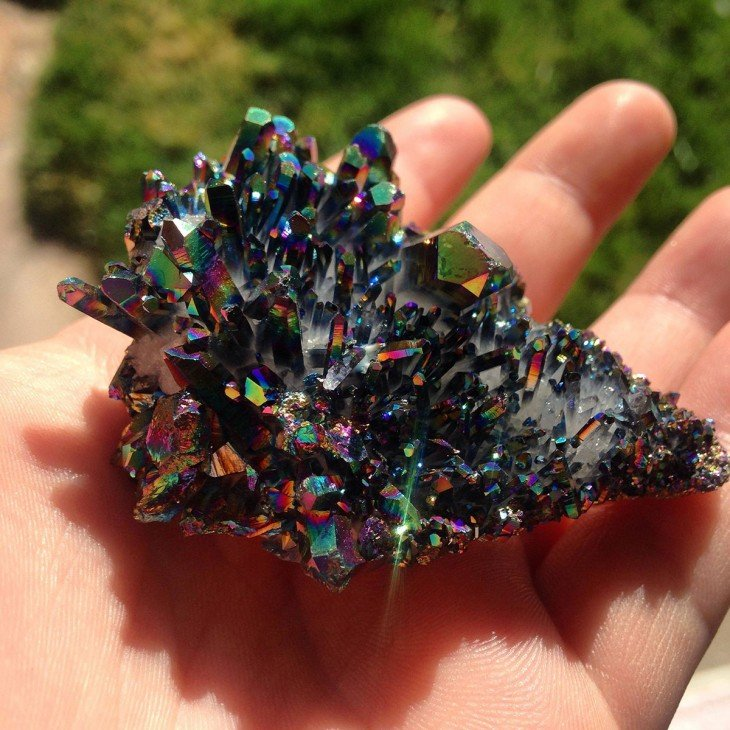 piedras preciosas titanio cuarzo