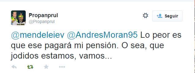 tuit sobre pensión deseada pero no por el que la paga