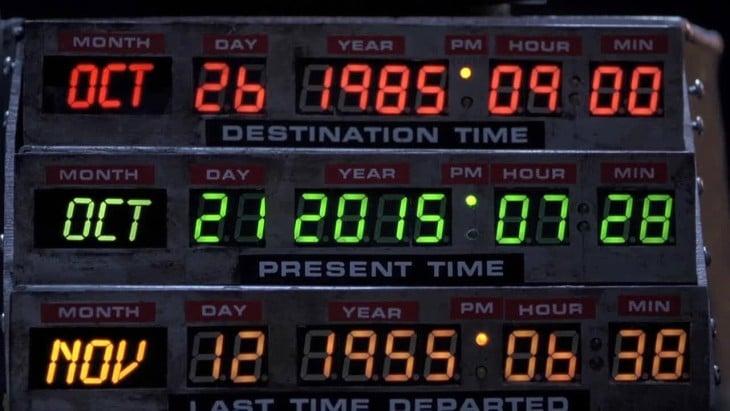 reloj de volver al futuro, marca 2015