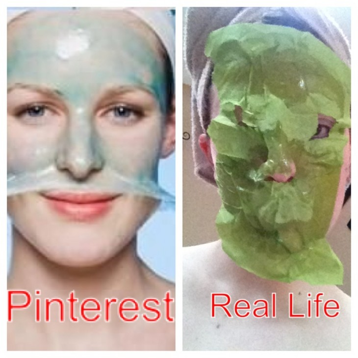 mujer con una mascarilla en la cara