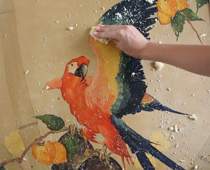limpieza de pintura al oleo