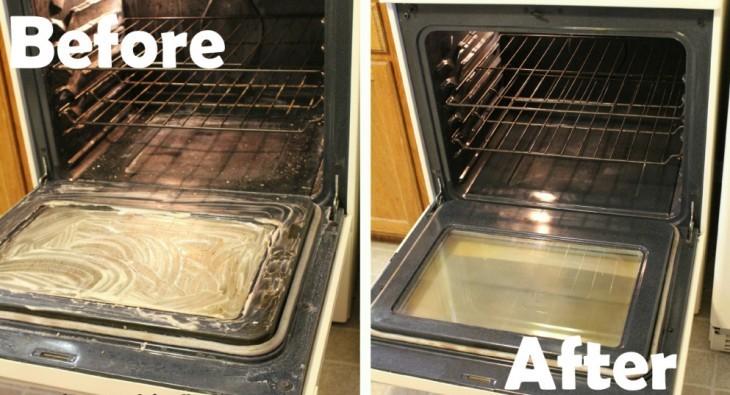 horno de cocina antes y después