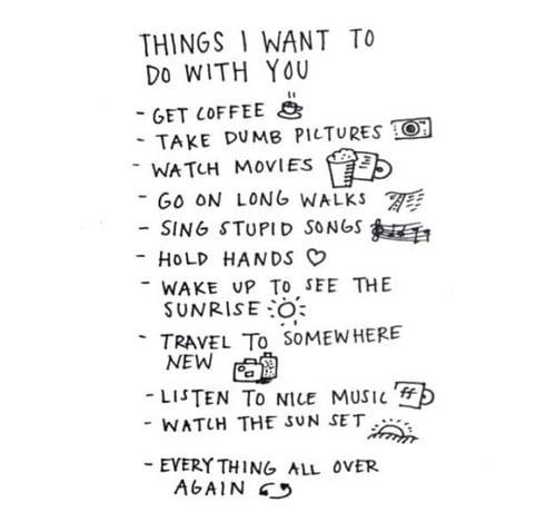 lista de las cosas que quieres hacer con tu amigo