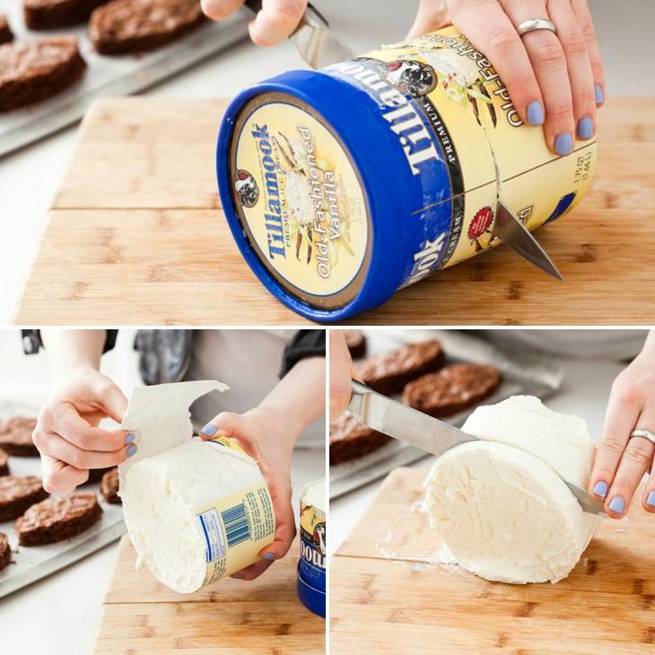 como cortar el helado para tu fiesta