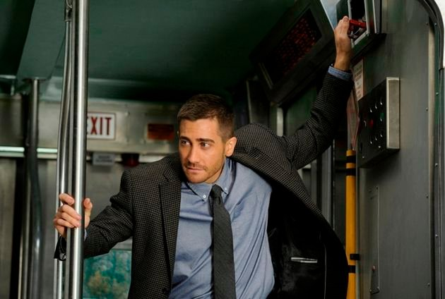 JAKE GYLLENHAAL stars in SOURCE CODE.
