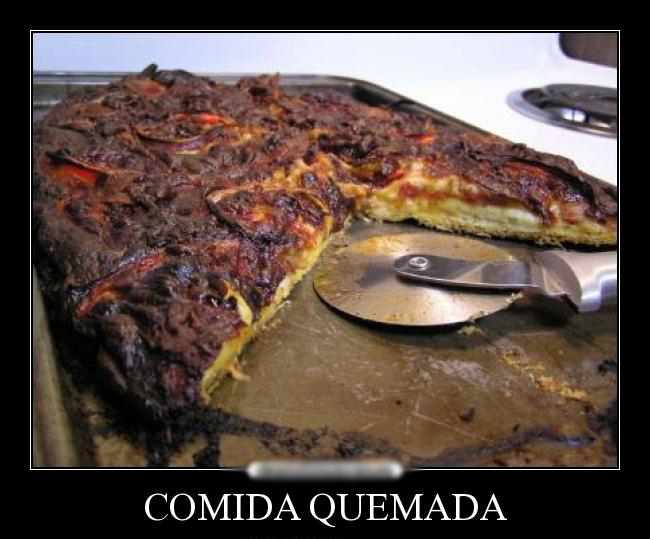 MEME PIZZA QUEMADA