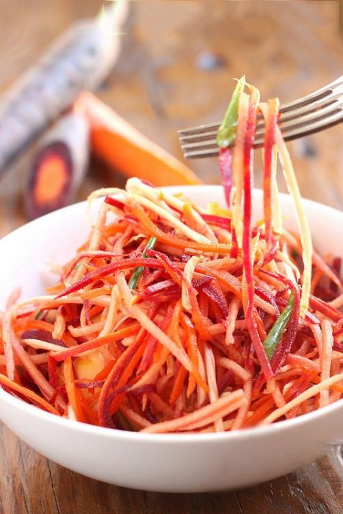 ensalada de lechuga zanahoria