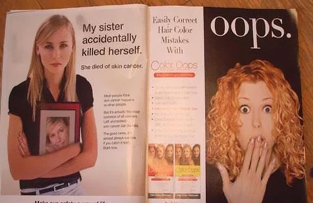 publicidad juega mala jugada al articulo sobre suicidio