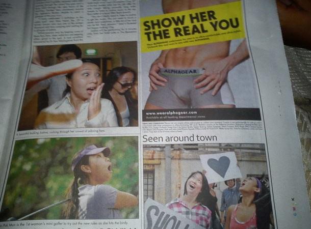 publicidad mal situada en el periodico de este dia