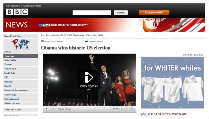publicidad de la bbc termina siendo racista de forma no intencional