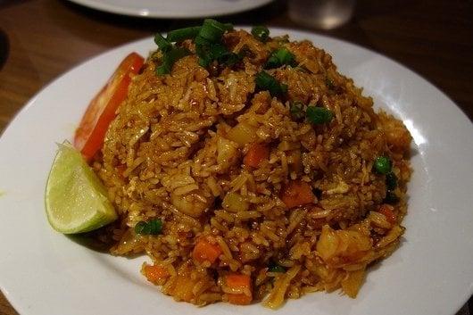 arroz con pollo frito