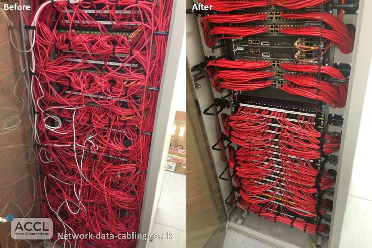 rack de sistemas de una empresa