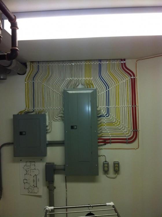 alimentador de corriente electrica de un edificio