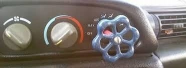manija para ajuste del aire acondicionado