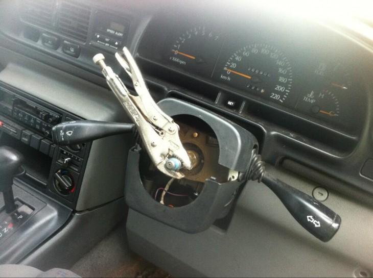 pinza como volante
