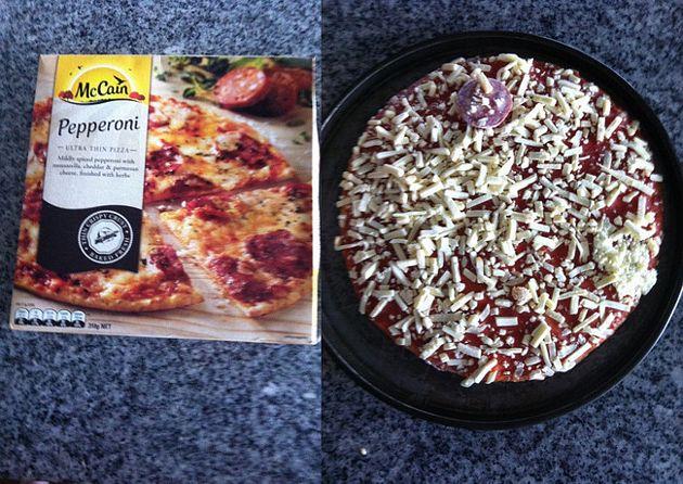 falsa publicidad en la pizza