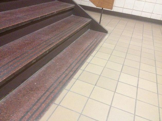 escalon pintado en la escalera