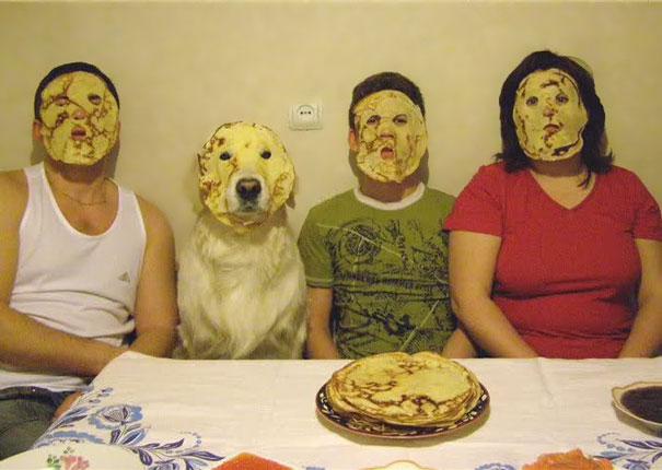 familia con cara de panquequés