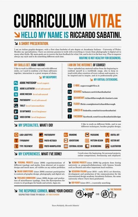 25 curriculum vitae super creativos para trabajos