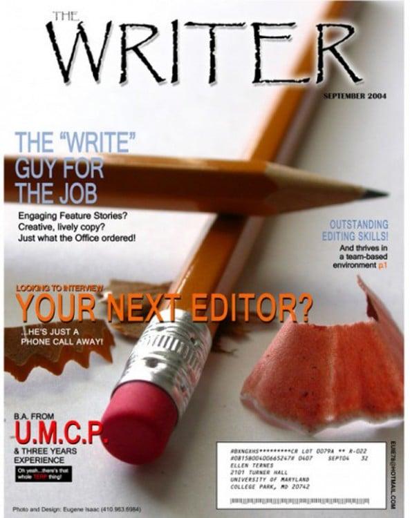 portada de revista como curri para editor