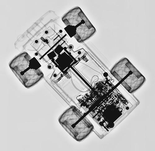 rayos x carro de control remoto