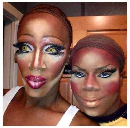 maquillaje transgenero para carnaval