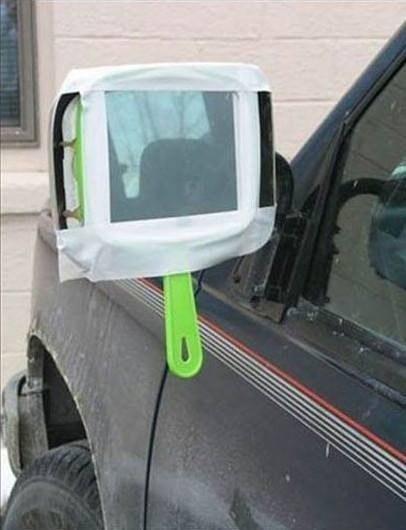 Espejo utilizado como espejo para auto
