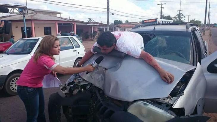 simulacro de vialidad brasil para concientizar a la población sobre el manejo adecuado de un vehiculo