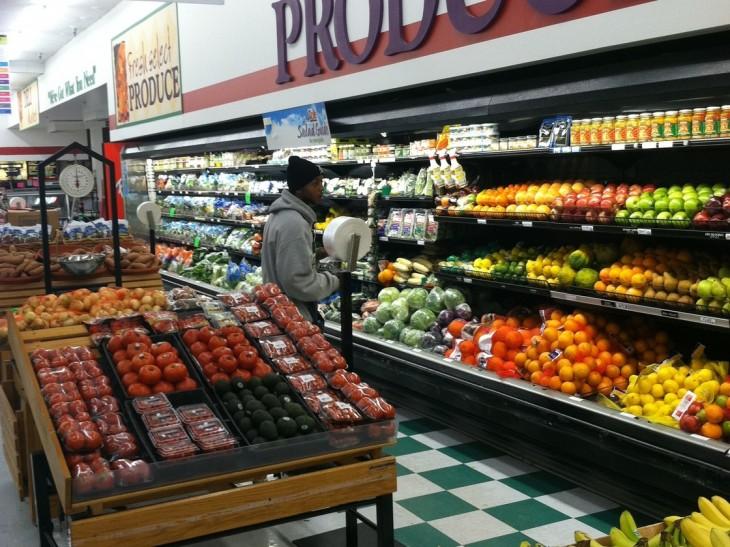 cliente en un supermercado