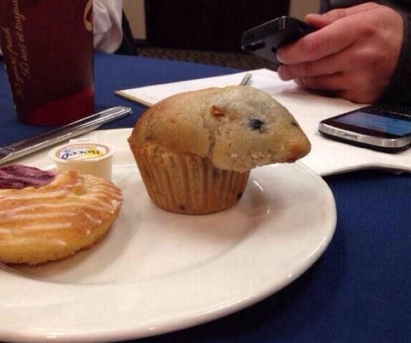 muffin en forma de hámster